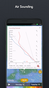 screenshot of Windy.com - Wind, Waves and Hurricanes Forecast version Varies with device