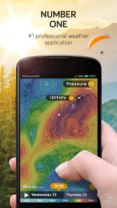 screenshot of Windy: wind, waves and hurricanes forecast version Varies with device