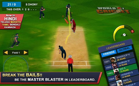 screenshot of World of Cricket : World Cup 2019 version 9.3