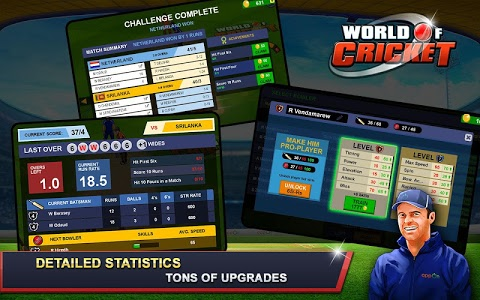 screenshot of World of Cricket version 5.0