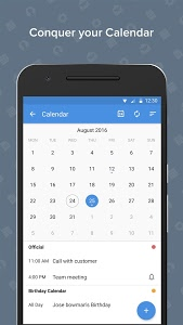 screenshot of Zoho Mail - Email and Calendar version 2.4.8