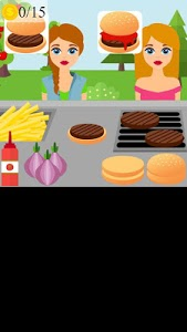 screenshot of burger stand game version 1.0