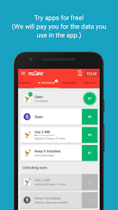 screenshot of mCent - Free Mobile Recharge version 2.0