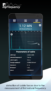 screenshot of myFrequency FREE - Vibration Analysis version 2.1