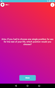 screenshot of sexy Truth or Dare dirty questions couple games version 2.1