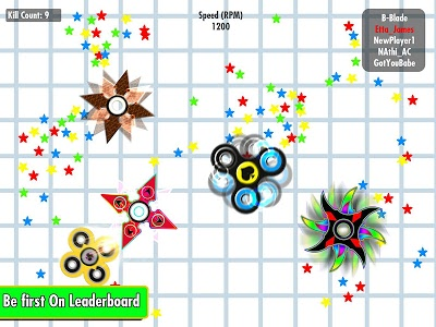 screenshot of spinner.io spinz.io - fidget spinner version 1.3