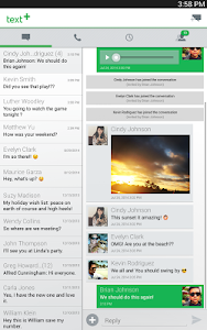 screenshot of textPlus Free Text + Calls version Varies with device